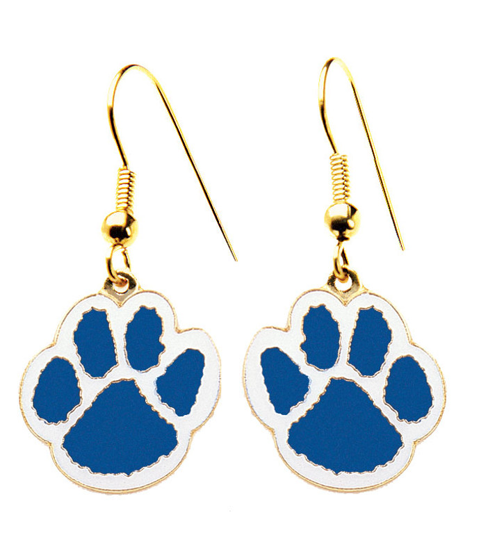 Paw Earrings Blue/White