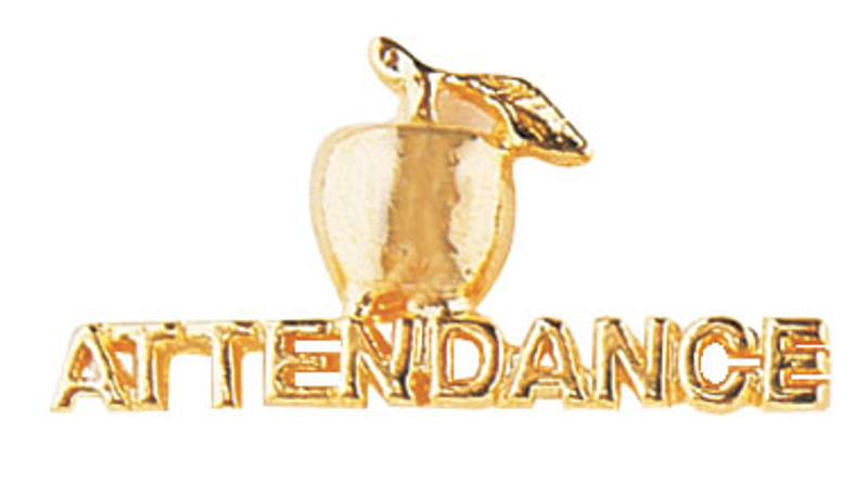 Golden Apple Attendance Lapel Pin