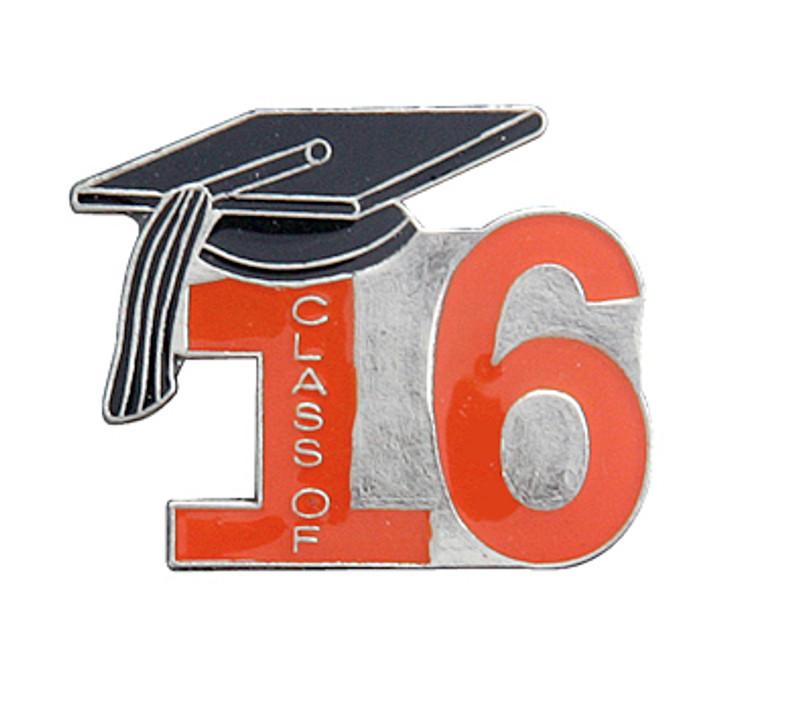 Class of 16' Orange Lapel Pin