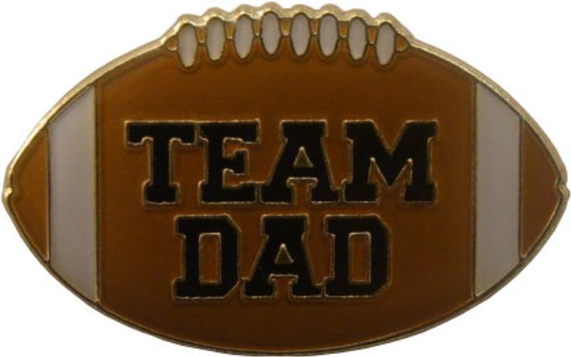 Team Dad Football Lapel Pin