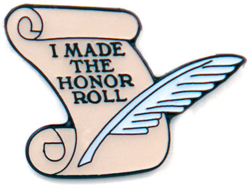 I Made the Honor Roll Scroll Lapel Pin