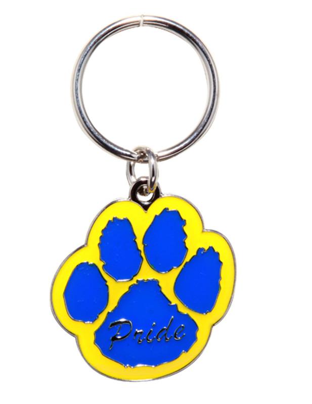 Paw Pride Key Ring (blue/yellow)