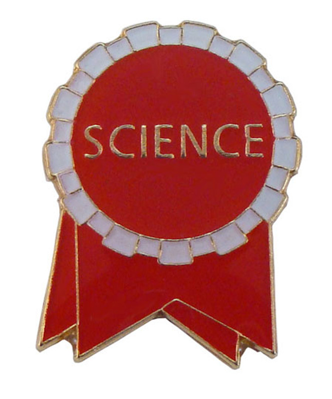 Science Ribbon (red/white) Lapel Pin