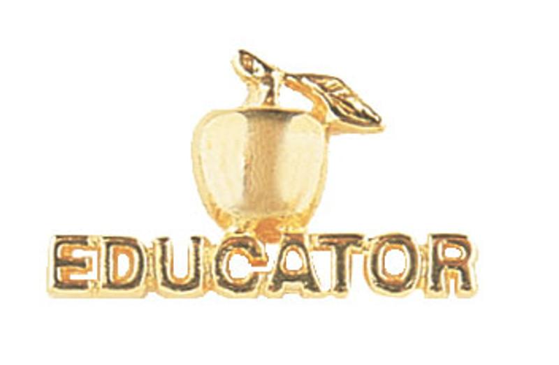 Golden Apple Educator Lapel Pin