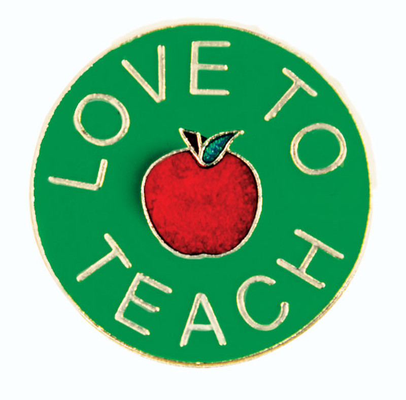 Love To Teach Lapel Pin