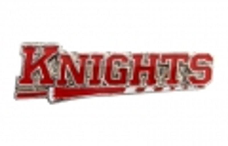 KNIGHTS on lance, red (nickel) Lapel Pin