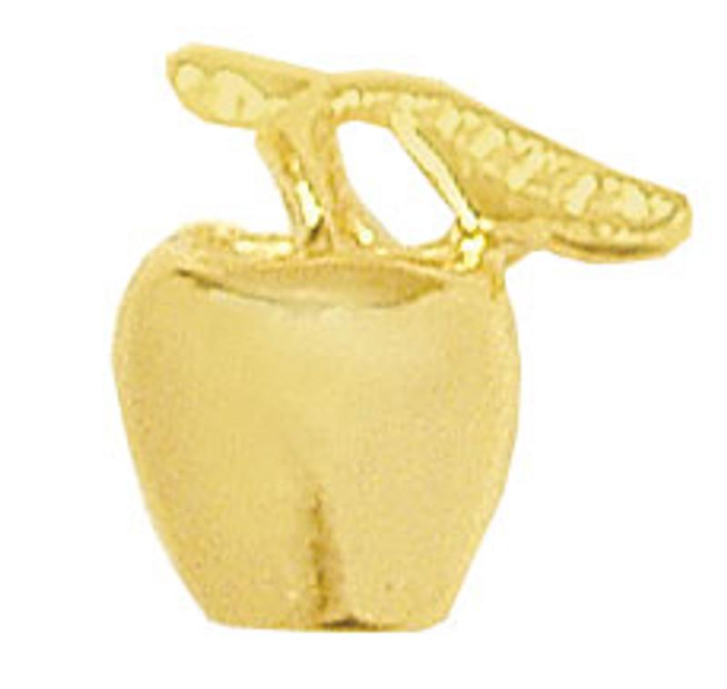 Golden Apple Earrings (POST)