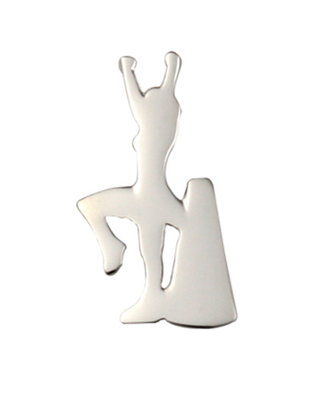 Cheerleader with Megaphone (nickel) Lapel Pin