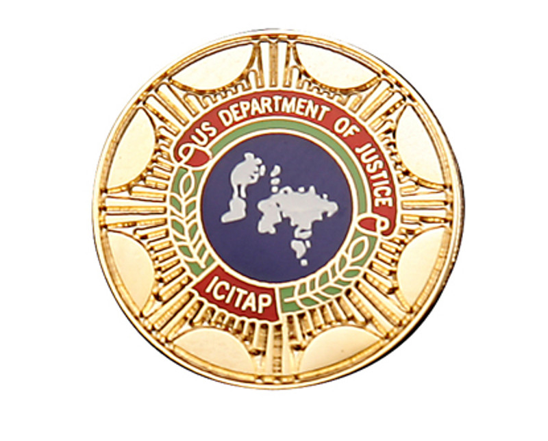 US Department of Justice Lapel Pin