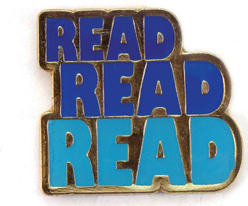 Read Read Read Lapel Pin