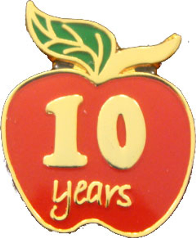 YOS 10 Apple Lapel Pin