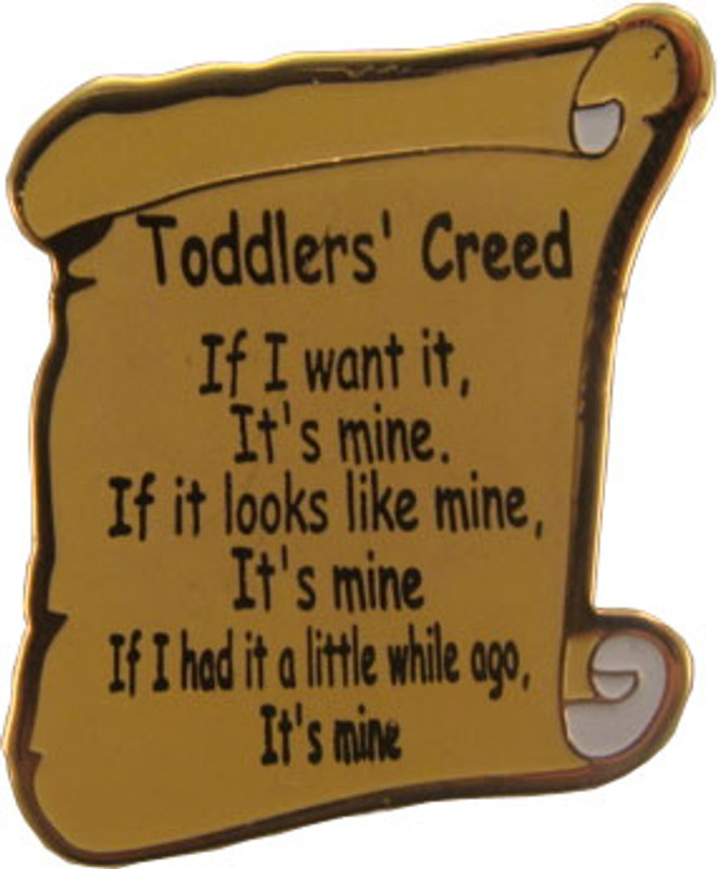 Toddlers Creed Lapel Pin