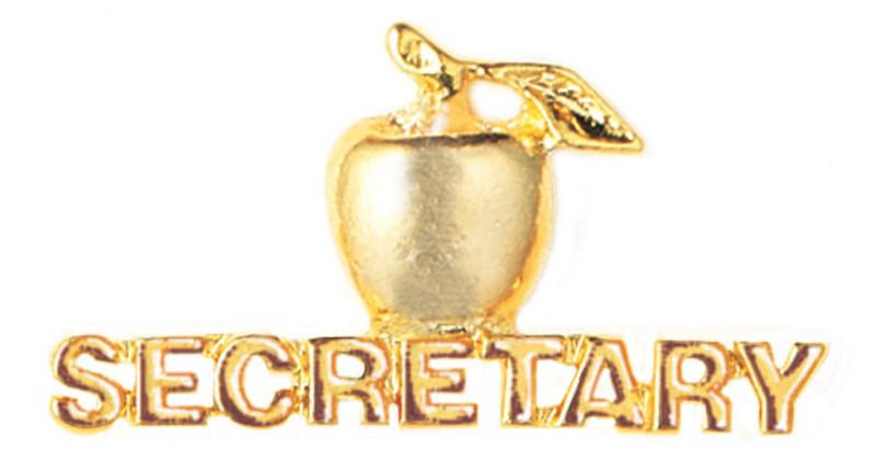 Golden Apple Secretary Lapel Pin