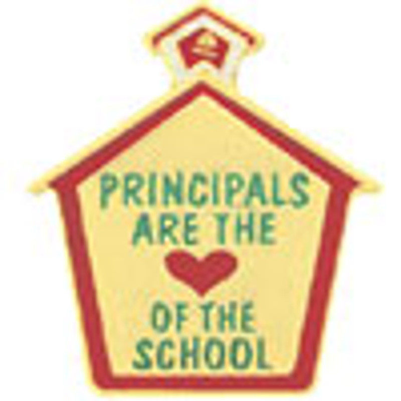 Principals Are The (heart) Of The School Lapel Pin