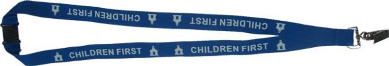 CHILDREN FIRST LANYARD - BLUE