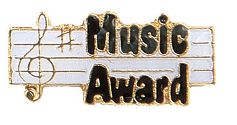 Music Award Lapel Pin