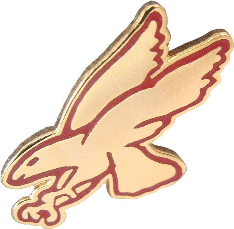 Red Hawk Lapel Pin