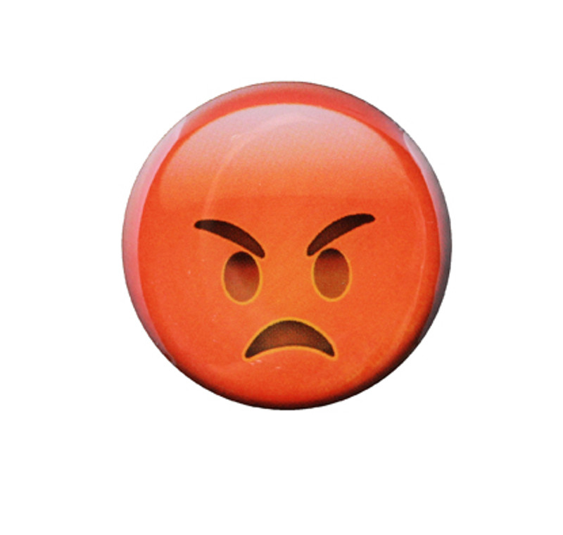 Angry Emoji Lapel Pin