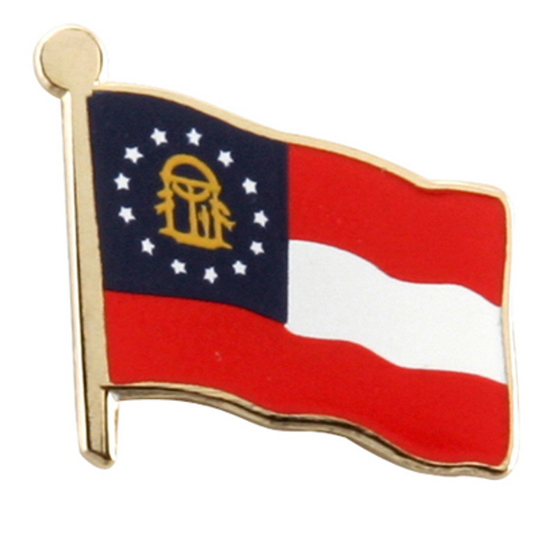 Georgia Flag Lapel Pin (in gold)