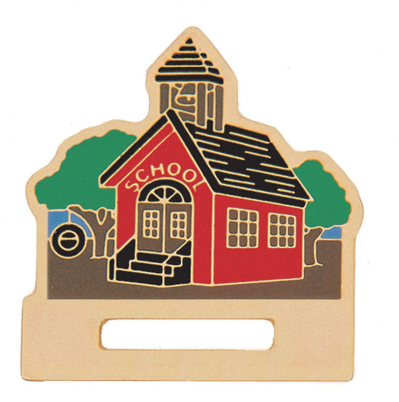 School House Badge Holder Lapel Pin