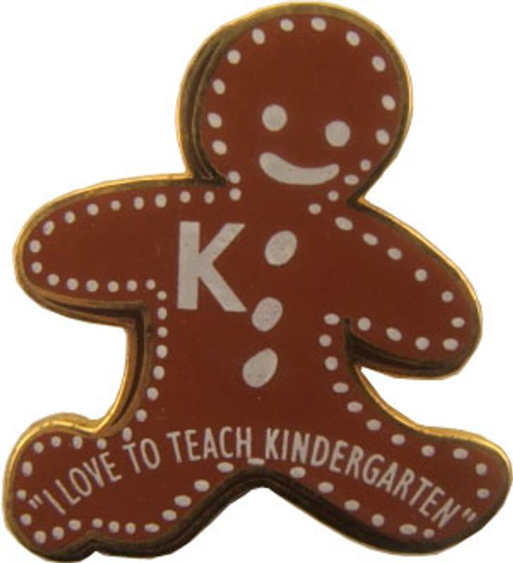 I Love To Teach Kindergarten Lapel Pin