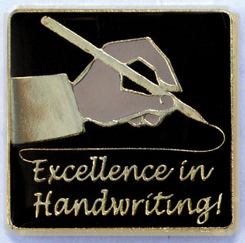 Excellence in Handwriting Lapel Pin