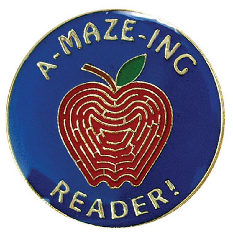 A-Maze-ing Reader Lapel Pin