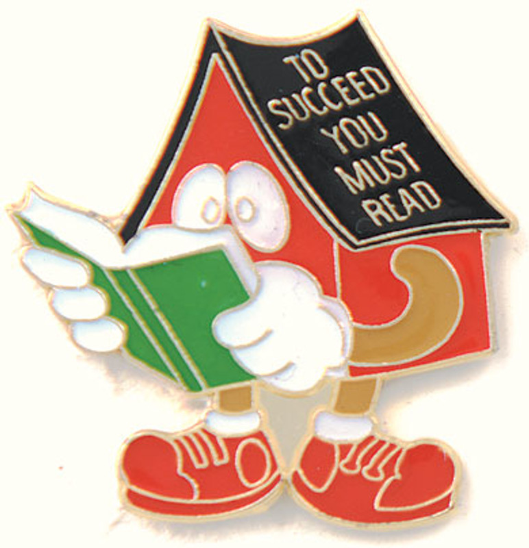 To Succeed You Must Read Lapel Pin