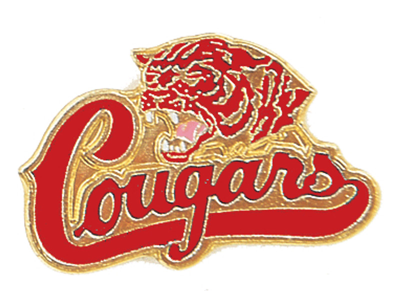 Cougars (red) Lapel Pin