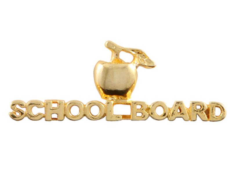 Golden Apple - School Board Lapel Pin