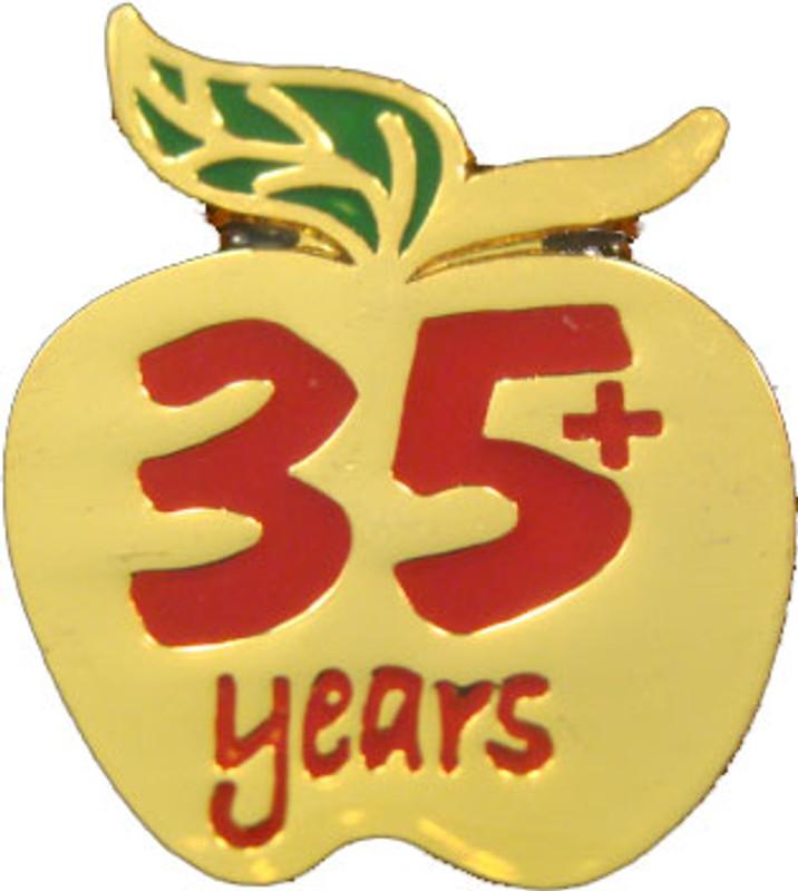 YOS 35 Apple Lapel Pin