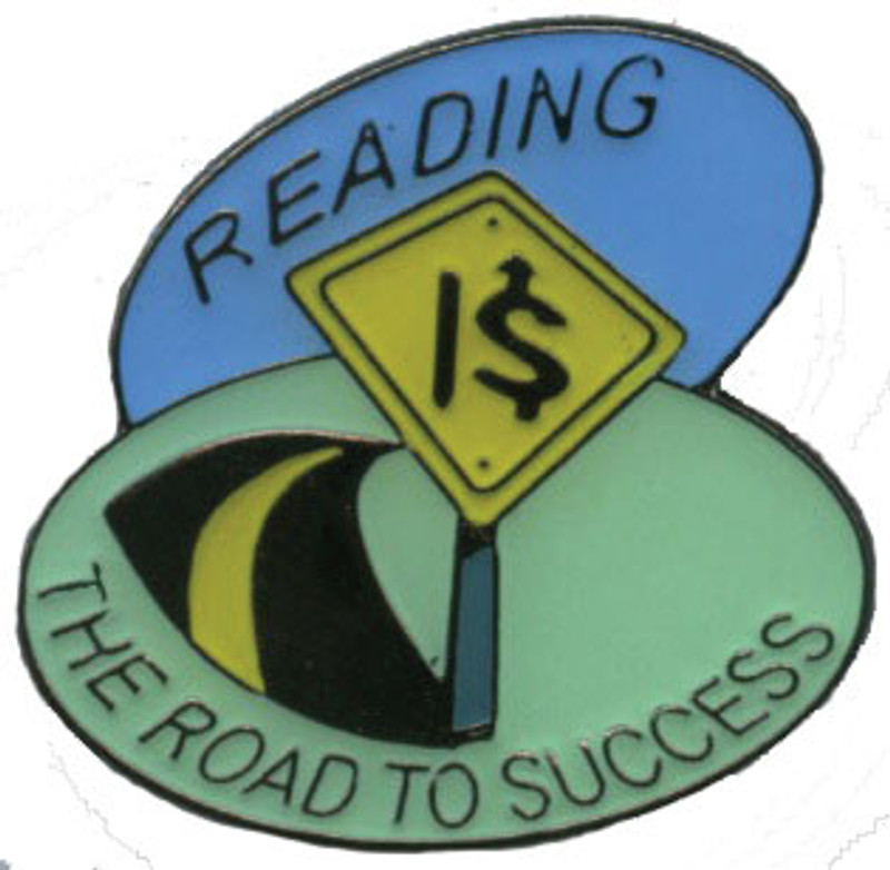 Reading is the Road to Success Lapel Pin