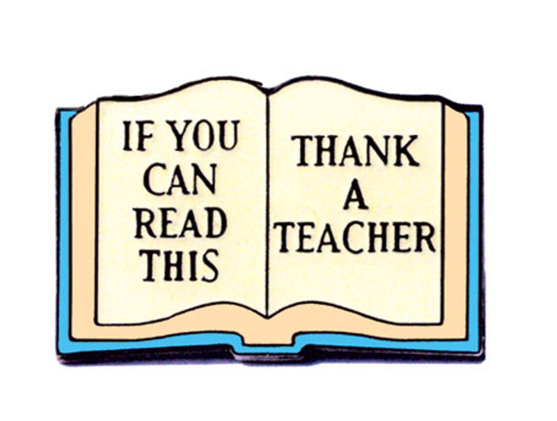 If You Can Read This Thank a Teacher Lapel Pin