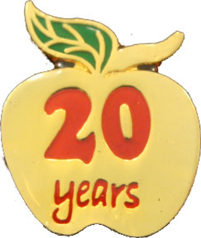 YOS 20 Apple Lapel Pin