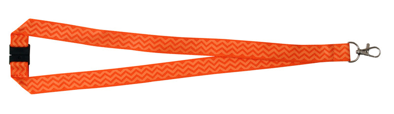 Chevron Print Lanyard - Orange
