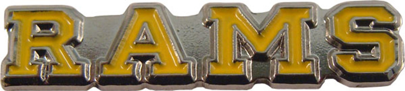 RAMS (yellow) Lapel Pin