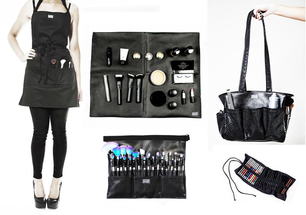Kit bag+Medium Brush belt+Make-up Mat+ Apron+Pencil Roll