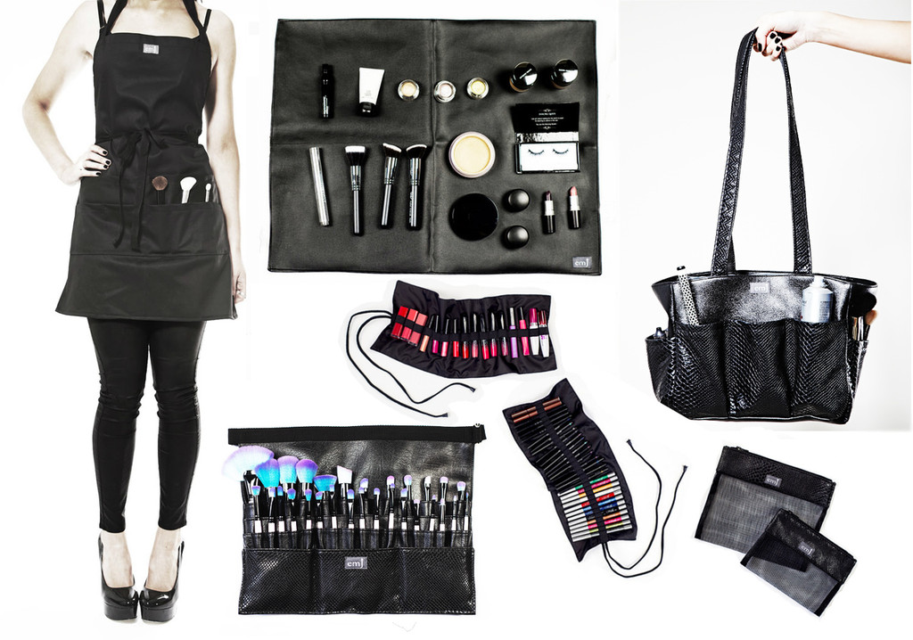 Kit bag+Medium Brush belt+Make-up Mat+Pencil Roll+Gloss Roll+Apron+Large Make-up bag+Small Make-up Bag