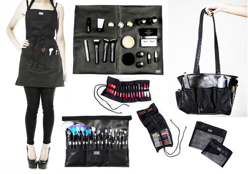 Kit bag+Medium Brush belt+Make-up Mat+Pencil Roll+Gloss Roll+Apron+Large Make-up bag+Small Make-up Bag
