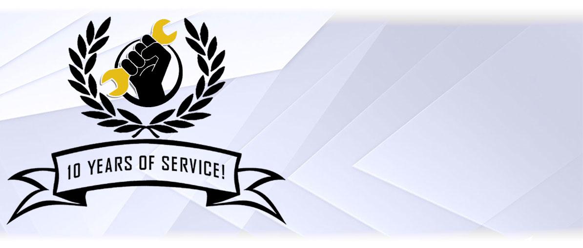 Gamers Repair 10 Years of Service!