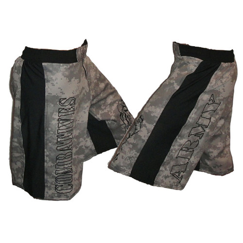 Gray MultiCam Pattern Combatives Shorts Combat-S-GrayMu