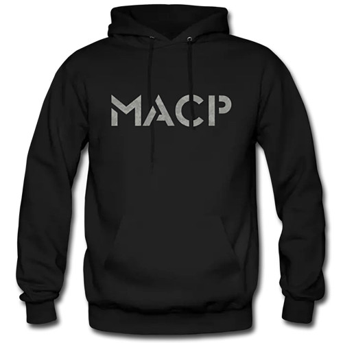 MACP Black Hoodie with ACU Print and Ground Fighter