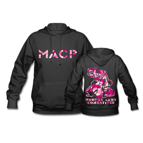 MACP Fighter Hoodie with Pink Camo Print