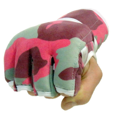 Pink Camo Fight Gloves 4oz