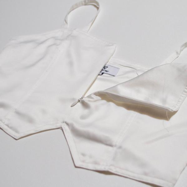 The Vratim Classic Crop Top - White back