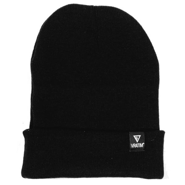 The Vratim Cuff Beanie - black