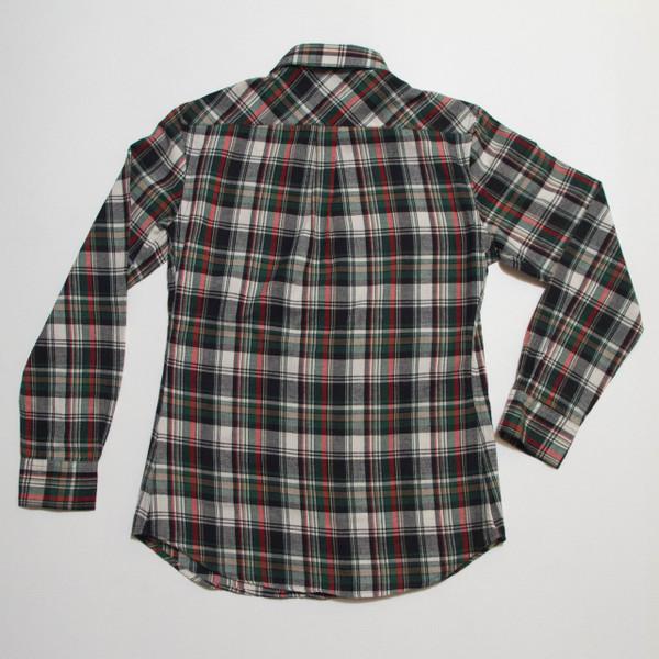 The Vratim Slim Flannel  - Green back