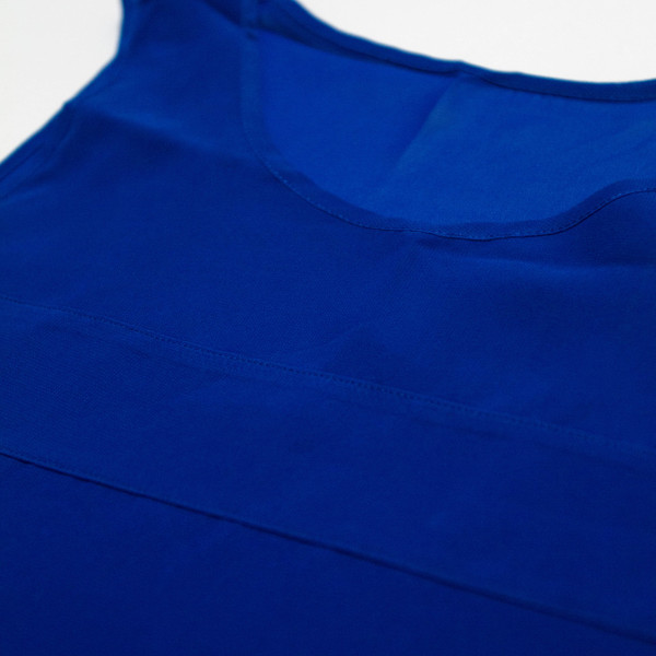 The Aly Tank - Blue detail