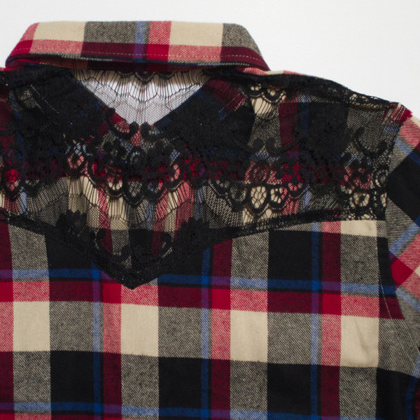 The Brooke Flannel - Red back detail
