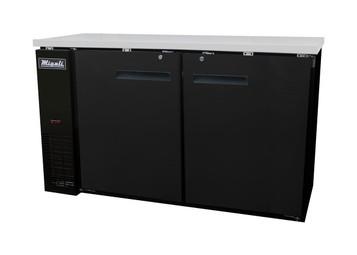 Migali C-BB60 Solid Door Back Bar Refrigerator (15.8 cu ft)